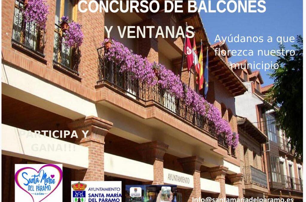 """Santa María del Páramo lanza un concurso de balcones bajo el lema """"Ayúdanos a que florezca nuestro municipio"""""""
