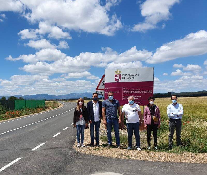 La Diputación invierte 528.000 euros en la renovación del firme en el tramo de carretera entre Fresno de la Valduerna y Robledino