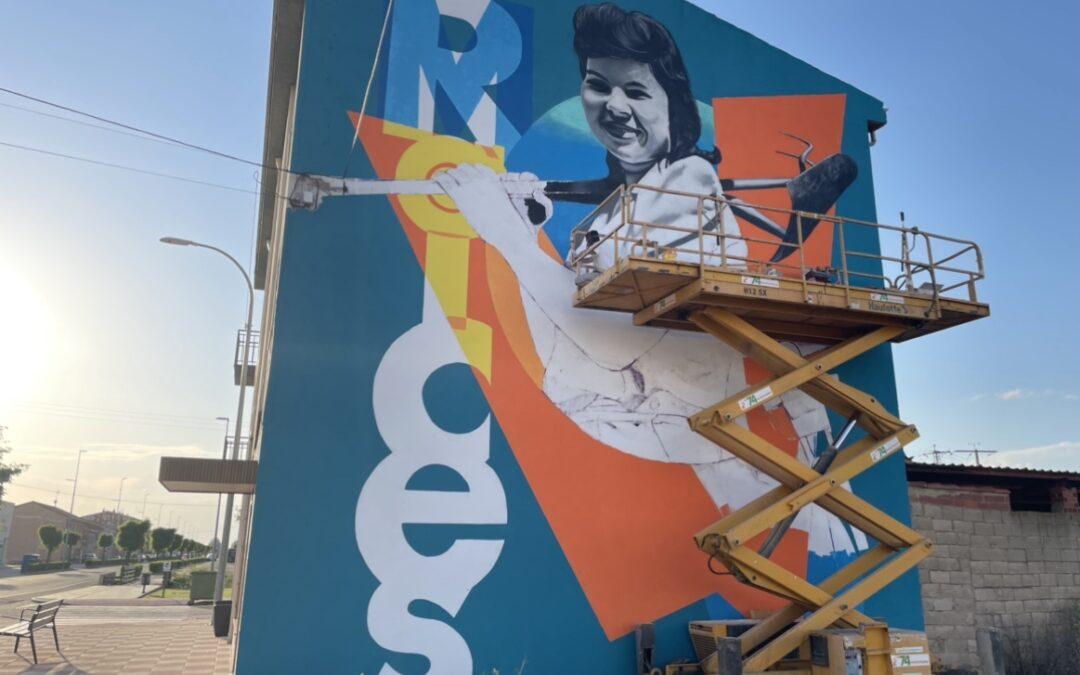 El primer 'Santa María street art' reúne a artistas de tres comunidades autónomas en torno a la agricultura y las tradiciones