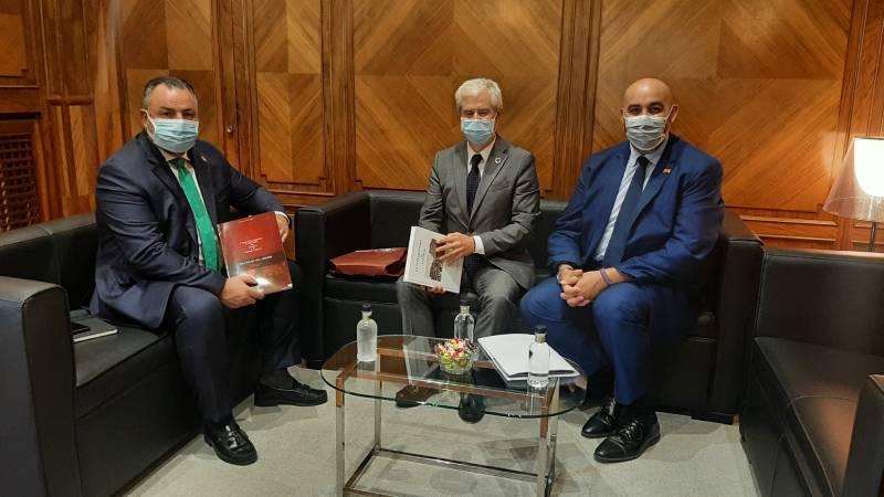 El presidente de la Diputación se reúne con los representantes de la Cámara de Comercio de Astorga