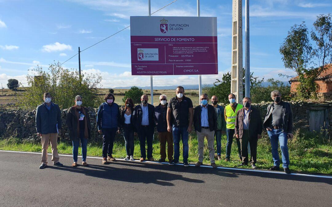 La Diputación invierte 225.975 euros en el ensanche y mejora de la carretera  LE-6318 desde Lagunas de Somoza a la LE-740 por Priaranza de la Valduerna