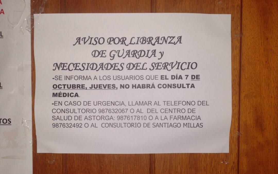 El ayuntamiento de Valderrey vuelve a exigir que se cubran las libranzas de guardia en los consultorios