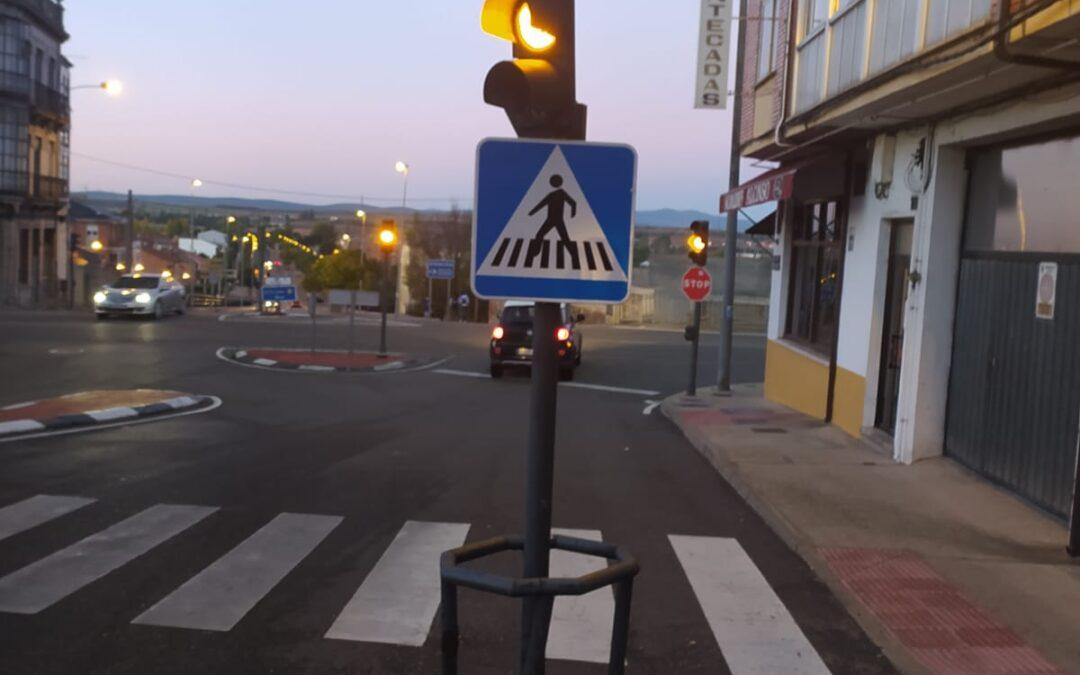 Finalizan las obras para mejorar la canalización de los semáforos de Cuatro Caminos